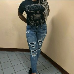 American Eagle ripped/distressed jeans